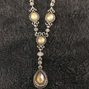 Sterling Silver With Yellow Gems